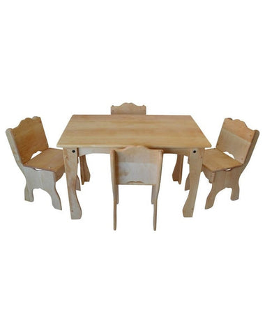 Downeast Cottage Table and Chair Deluxe Set-Elves & Angels