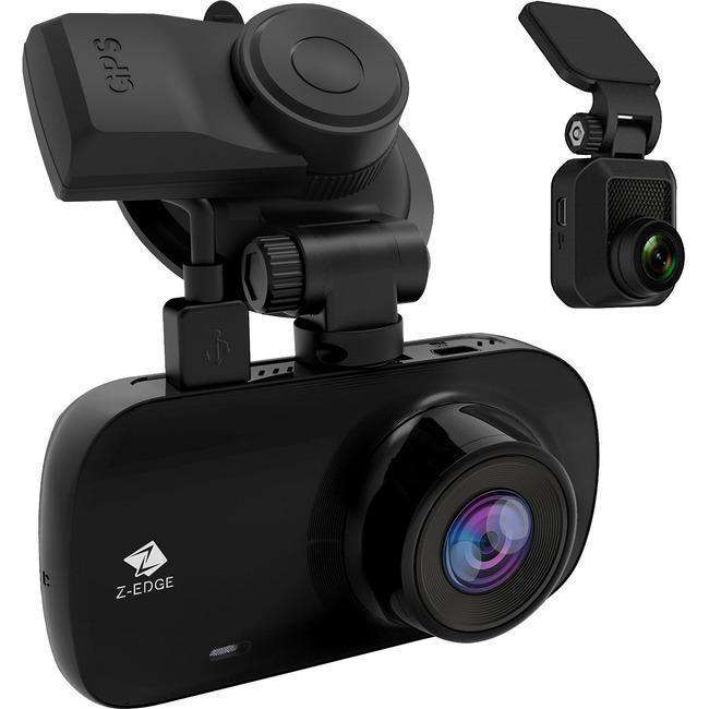 Z-EDGE Z3D 2560 x 1440P Quad HD Dual-Lens Car Dash Camera with GPS