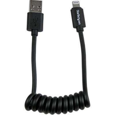 1' Coiled Lightning to USB Cbl