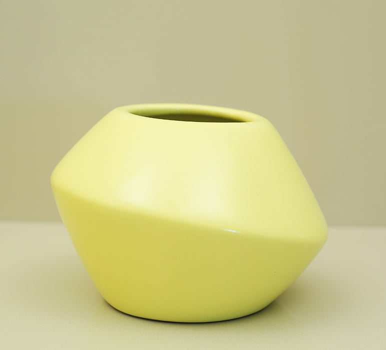 Yellow Smile Prism Planter