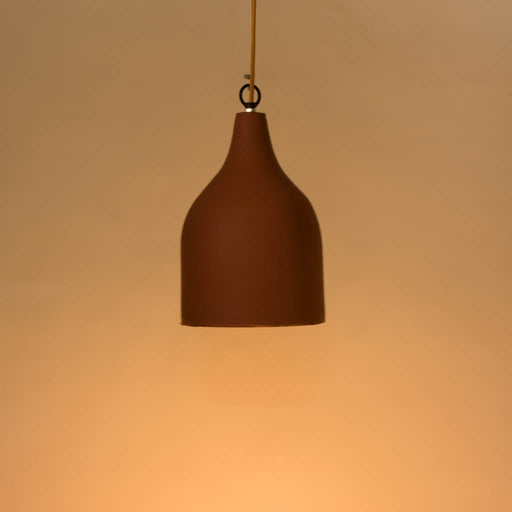 Terracotta Funnel Pendant Light
