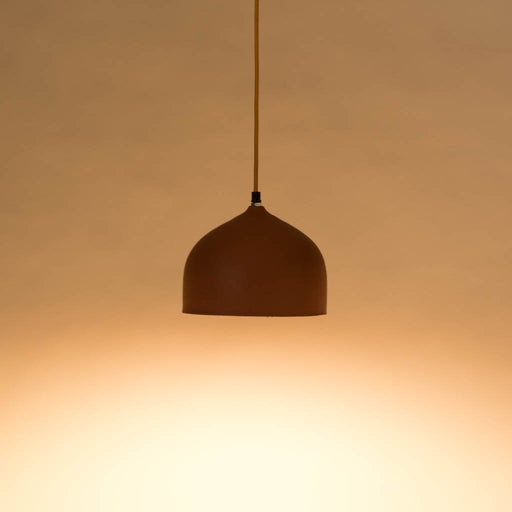 Wide Dome Terracotta Pendant Lamp