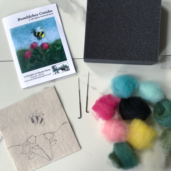 Needle Felting Kit: Bee and Flower