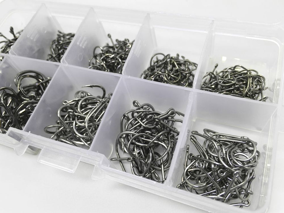 500pcs/set mixed size fishing hooks