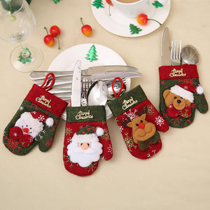 Knife & Forks Holder Bag Christmas Decorations - 4Pcs/Lot