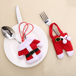 Fork Knife Cases, Tableware Covers for Christmas - 6pcs