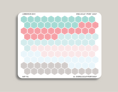 Outlined Habit Tracker & Mini Hexagons Stickers for 2019 inkWELL Press Planners IWP-T112