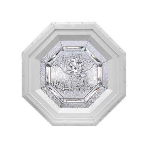 Bevelpane Octagon Window with Rose Deco