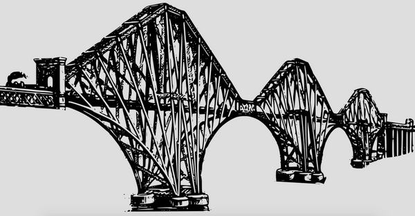 Tasse - Forth Bridge (white/black) - The Pot Still