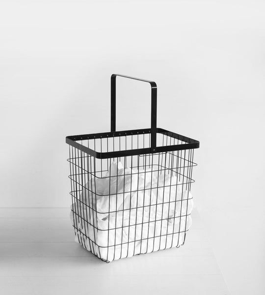 Yamazaki | Tower Laundry Wire Basket | Large | Black