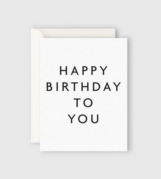 Father Rabbit Stationery | Happy Birthday to You Card