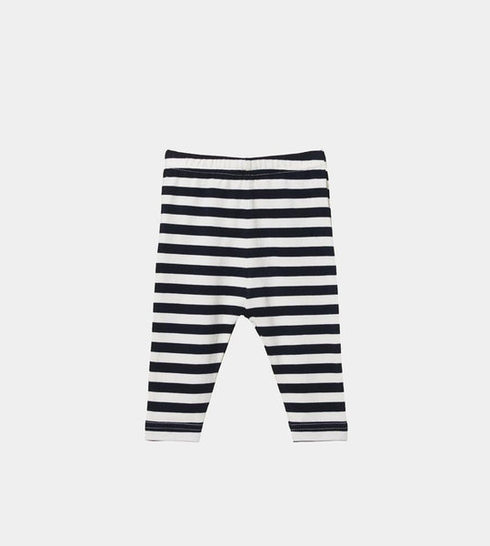 Nature Baby | Baby Leggings | Navy Sea Stripe