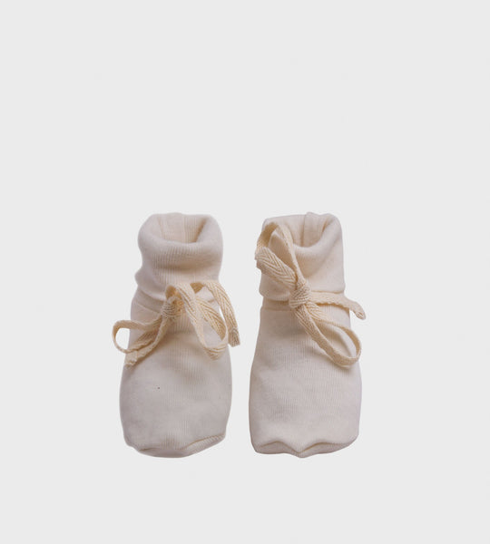 Nature Baby | Cotton Booties | Natural
