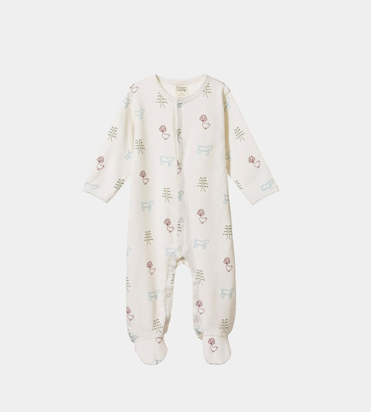 Nature Baby | Cotton Stretch & Grow One Piece | Nature Baby Print