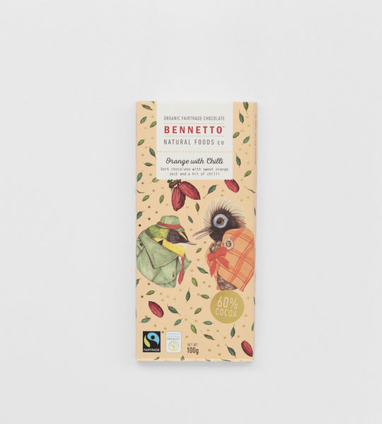 Bennetto Chocolate Bar | Orange with Chilli