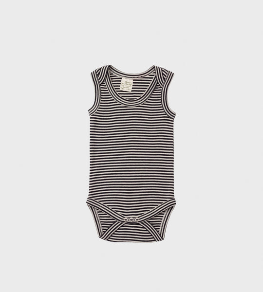 Nature Baby | Singlet Bodysuit | Navy Stripe