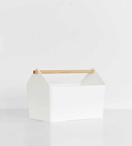 Yamazaki Home tosca storage box in white for organisation.
