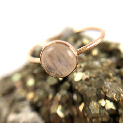 Mineral and Matter - Moonstone Medium Ring (Silver)