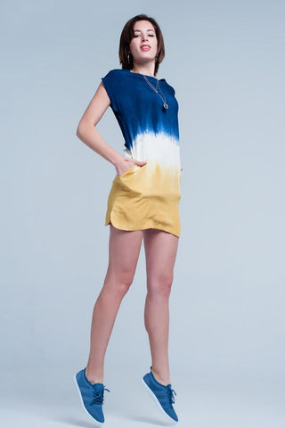 Mustard Tie Dye T-Shirt Dress