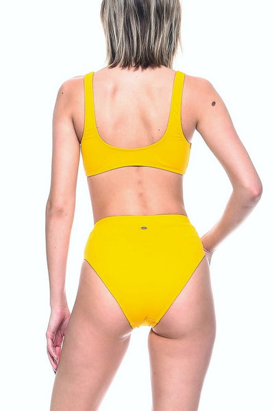 Yellow High Waist Bikini Set