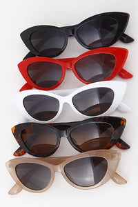 Cat Eye Framed Tinted Sunglasses - Nofashiondeadlines
