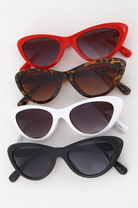 Colored Frame Tinted Lens Cat Eye Sunglasses - Nofashiondeadlines