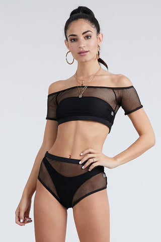 Black Four Piece Bikini Set