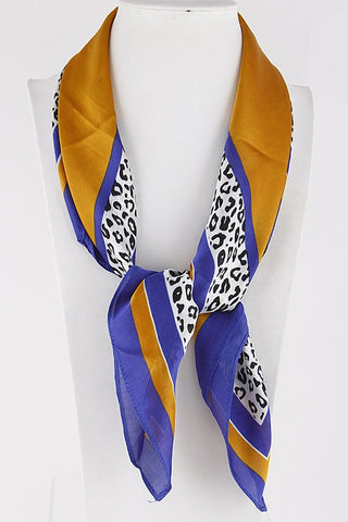 Mustard Animal Print Fashion Scarf