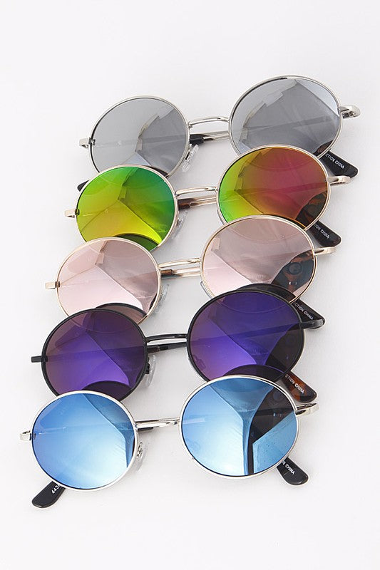 Classic Round Framed Sunglasses