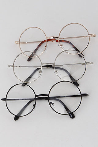 Clear Circle Frame Glasses - Nofashiondeadlines