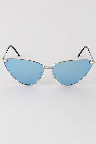Cat Eye Mirrored Sunglasses - Nofashiondeadlines