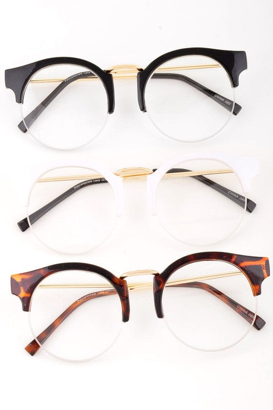 Nerd Clear Glasses with Circle Style Lens