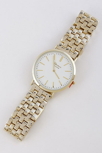 Simple Face Metal Fashion Watch