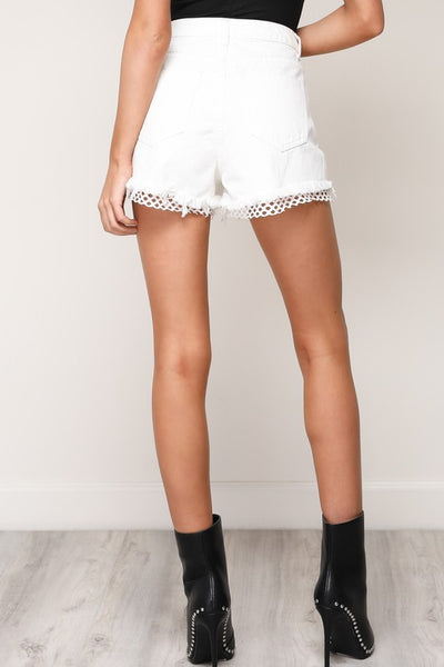 Black Fishnet Insert Shorts - Nofashiondeadlines