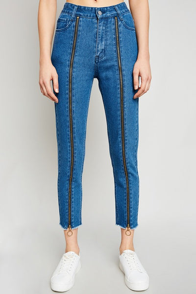 High Waist Zipper Jeans - Nofashiondeadlines