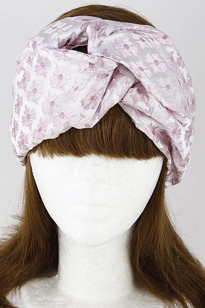 Pink Floral Style Printed Head Wrap