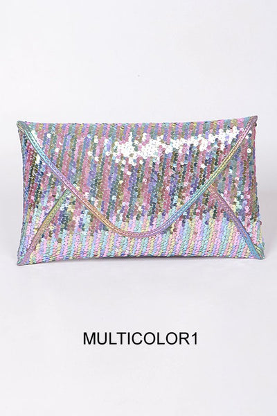 Multi Color Sequin Clutch Purse - Nofashiondeadlines