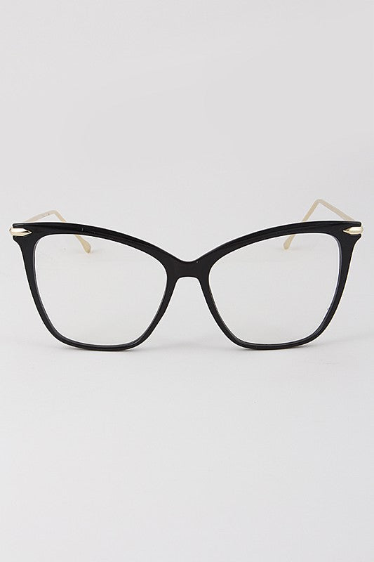 Cat Eye Framed Clear Sunglasses - Nofashiondeadlines