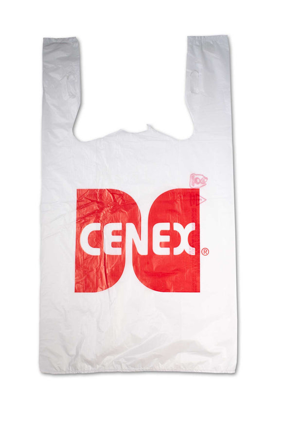 Large, flat, plastic bags with Cenex, gas station logo.