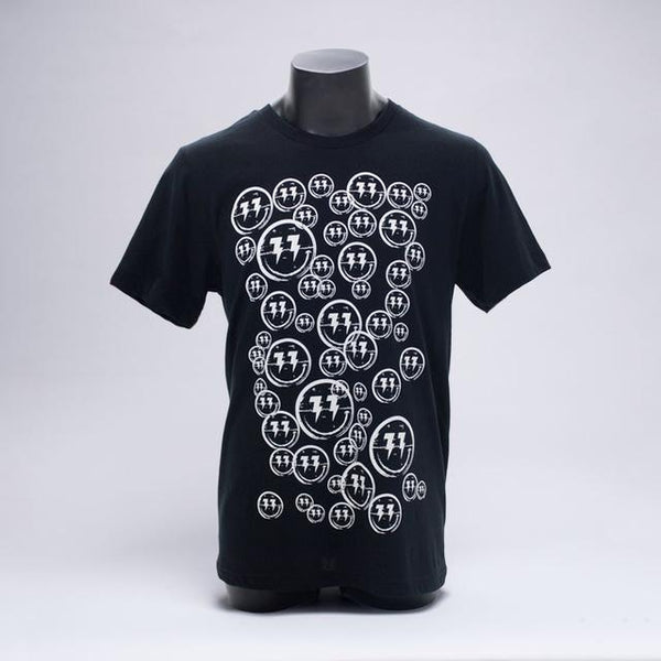 Bingo Players - Smiley Pattern Black Tee