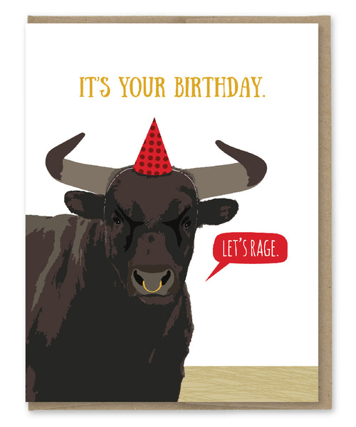 LET'S RAGE BIRTHDAY CARD