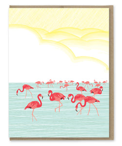 FLAMINGOS BLANK CARD