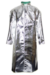"NATIONAL SAFETY APPAREL DELUXE ALUMINIZED JACKET 50"" LONG SNAP FRONT CLOSURE"