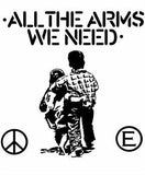 FLUX OF PINK INDIANS #1 - White All The Arms We Need backpatch