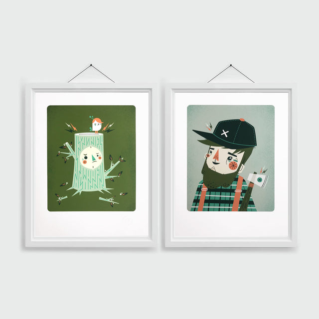 Lumberjack and Fume Giclee Prints