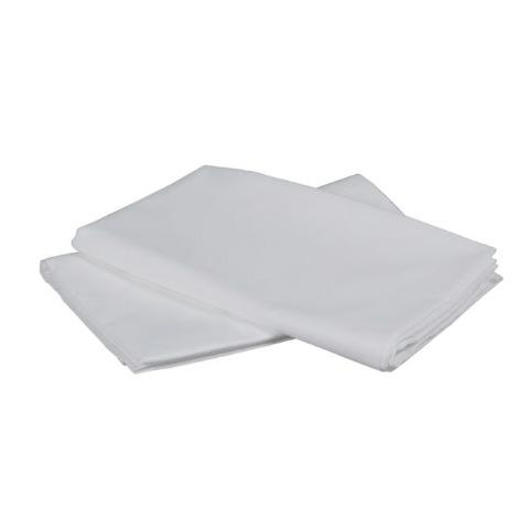 Crib Fitted Sheet - White Cotton Percale