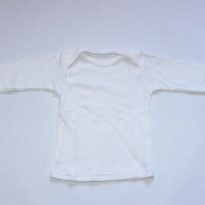 Long sleeve cotton baby vests  (no poppers)