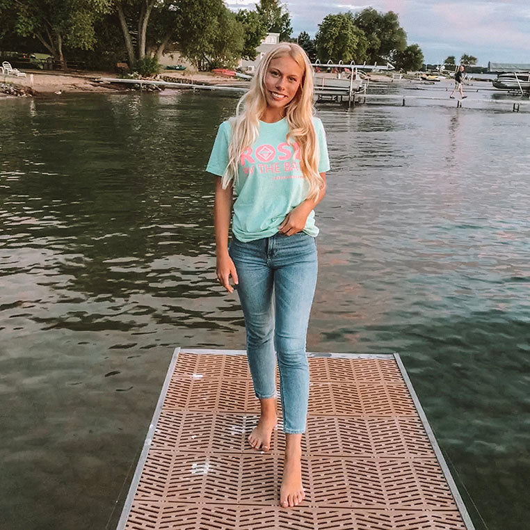 Rosé By the Bay Unisex Tee - Seafoam