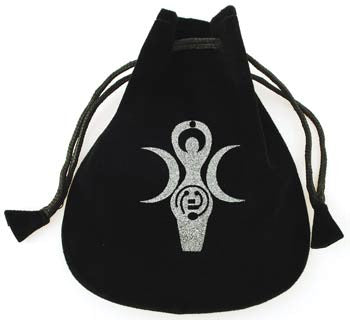 Goddess of Earth Velveteen Bag  5""