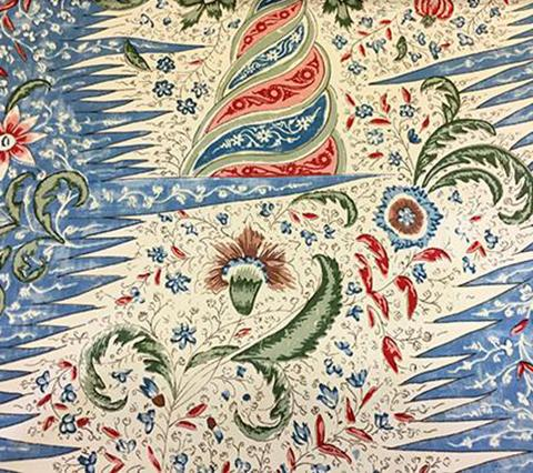 Quadrille print les indienne fabric multicolor indian printed fabric blue green red